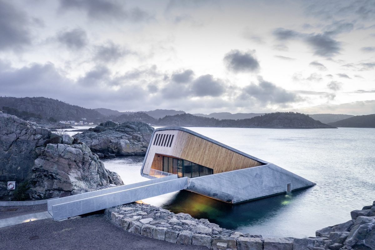 Under by Snøhetta, the world's largest underwater restaurant